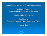 Upper Verde Watershed Protection Coalition - Town of Chino Valley