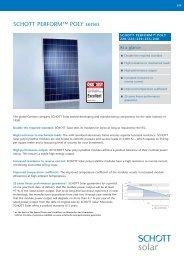 SCHOTT PERFORM POLY 220-240 data sheet EN ... - Solarni paneli