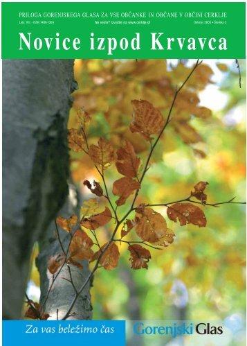 Številka 5, Oktober 2005 - Cerklje.si