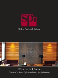 SPI Acoustical Panels - SPI - Specialty Products & Insulation Co.