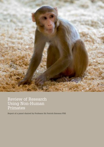 Review of Research Using Non-Human Primates - Wellcome Trust