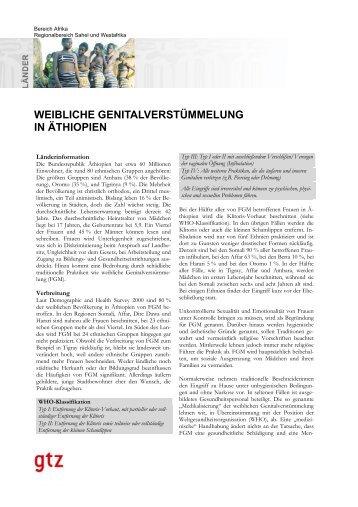 WEIBLICHE GENITALVERSTÜMMELUNG IN ÄTHIOPIEN - Gtz