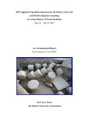 The 2007 season (730 KB PDF format) - Institute of Archaeology