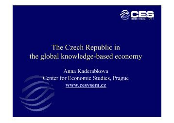 The Czech Republic in the global knowledge-based economy