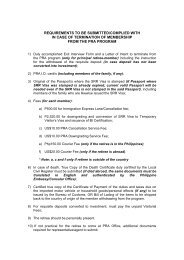 Requirements for SRRV Termination Exit Interview Form