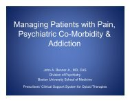 Managing Patients with Pain, Psychiatric Co-Morbidity ... - PCSS-O
