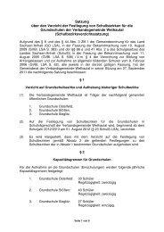 Satzung über den Verzicht der Festlegung von Schulbezirken für die ...