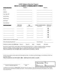 2012-13 Family Enrollment Form