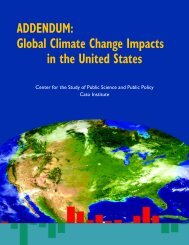 ADDENDUM: Global Climate Change Impacts in the United States