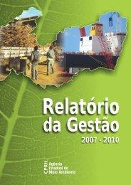 Relatório da Gestão 2007-2010 - CPRH - Governo do Estado de ...