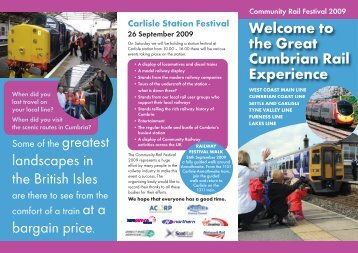 please download the leaflet - Northern Rail