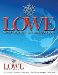 Lowe Refrigeration - Equipment Catalog