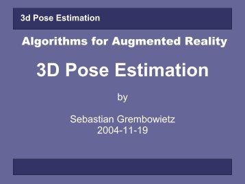 3D Pose Estimation