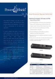 PowerShield Maintenence Bypass Switches