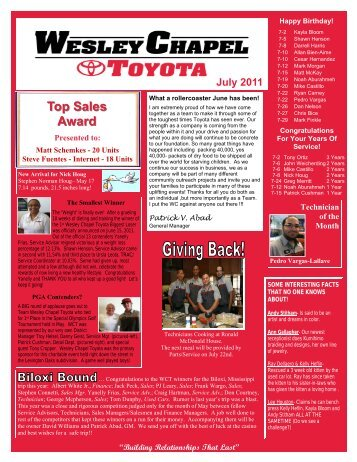 TOYOTA JULY 2011.pub - About IKare Publishing