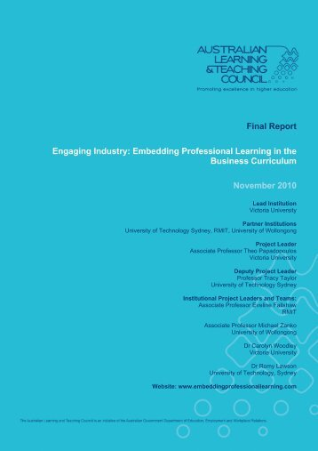 Final Report Engaging Industry: Embedding ... - RMIT University