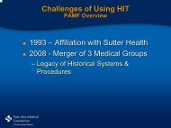 Palo Alto Medical Foundation Research Institute - AcademyHealth