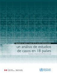 un análisis de estudios de casos en 18 países