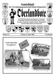 Amtsblatt - Verwaltungsgemeinschaft Ranis-Ziegenrück