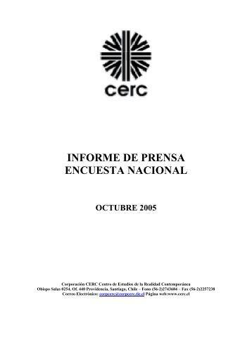 INFORME DE PRENSA ENCUESTA NACIONAL