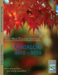 2010-2012 Catalog - West Hills College