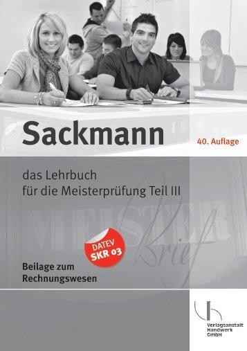 Beilage zum Rechnungswesen Sackmann - Bücher aus dem ...
