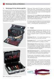 Werkzeuge für den Werkzeugkoffer 1.