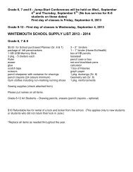 Supply list 7-10 13-14 - Sunrise School Division