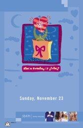 Sunday, November 23 - Simon Malls