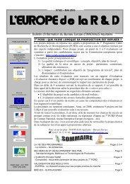 Bulletin d'information du Bureau Europe d ... - Page d'accueil