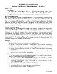 Program rules - Colorado Springs Utilities