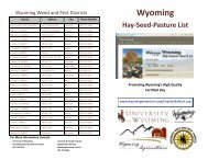 Learn about the Wyoming Hay-Seed-Pasture List Brochure