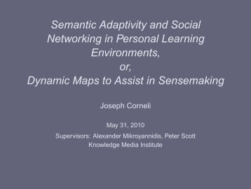 Semantic Adaptivity and Social Networking in Personal Learning ...