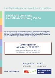 Fachkraft Lohn-und Gehaltsabrechnung - Volkshochschule Meppen
