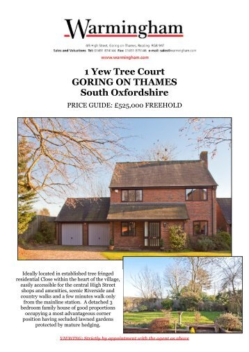 1 Yew Tree Court GORING ON THAMES South ... - Warmingham