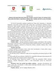 """projektas """"mokslinės rekomendacijos dėl žemės, maisto ūkio ..."""