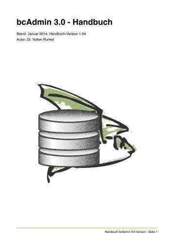 bcAdmin 3.0 - Handbuch - ecoObs GmbH