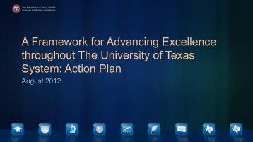 Advancing Excellence throughout the University of Texas System