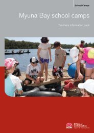 Teachers information pack - Myuna Bay - NSW Sport and ...