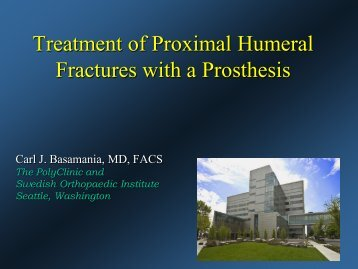 Classification, Imaging and Treatment Options of Proximal Humerus ...
