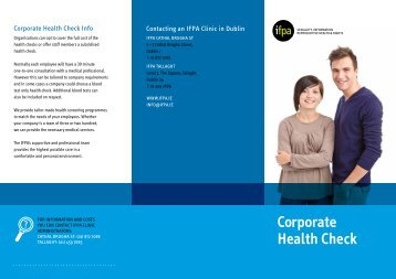 Corporate Health Check - Irish Family Planning Association