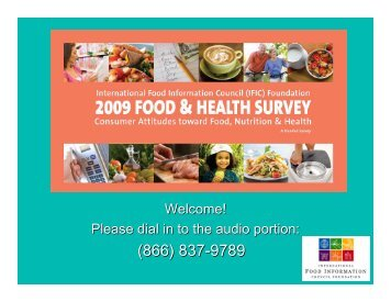 PDF of the slides - International Food Information Council Foundation