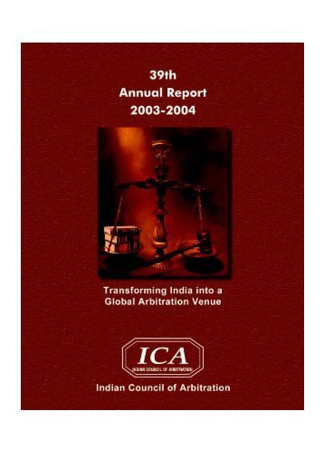 Annual Report-2003-2004 - Indian Council of Arbitration