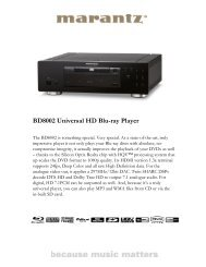 BD8002 Universal HD Blu-ray Player - Reference Audio