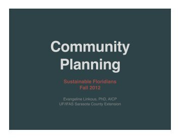 Community Planning - Sarasota County Extension