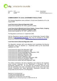Commencement Of Local Government Regulations - Division of ...