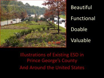 Illustrations of Existing ESD in Prince George's County - Anacostia ...