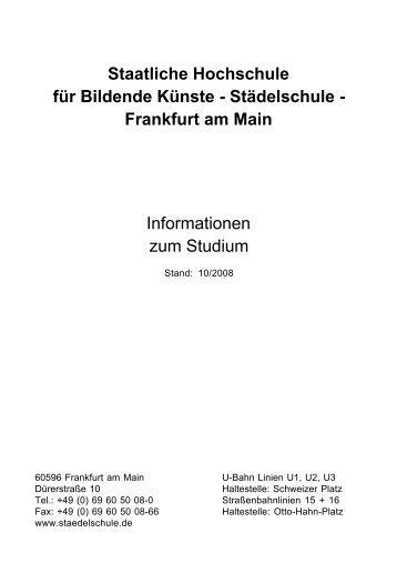 Frankfurt am Main Informationen zum Studium - Städelschule