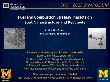 ERC – 2013 SYMPOSIUM - Engine Research Center