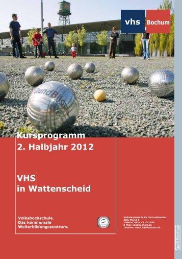 Gesundheit - Volkshochschule Bochum